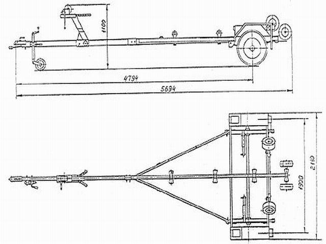 Схема прицепа лодочного