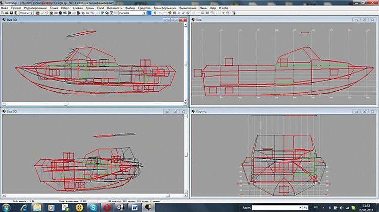 проект лодки в компасе
