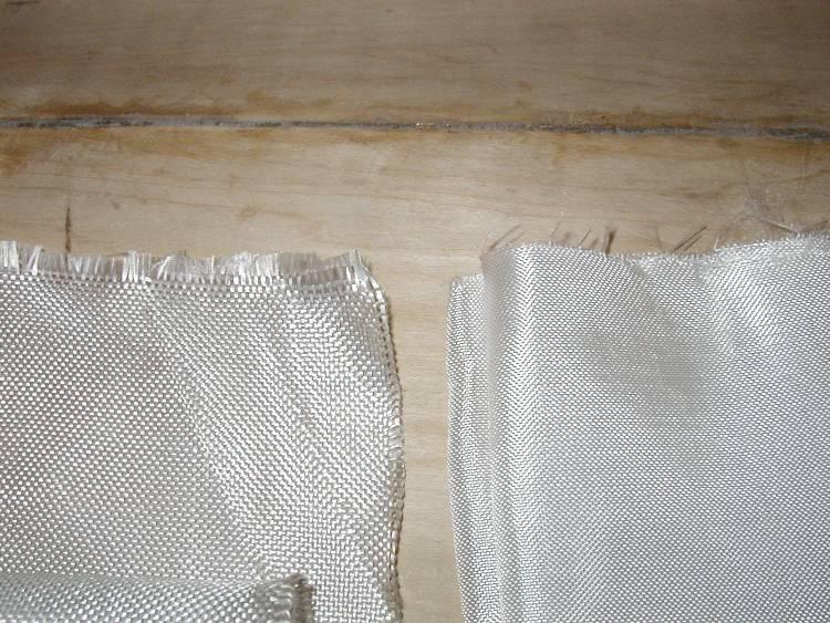Два типа использованной стеклоткани: толстая и тонкая.