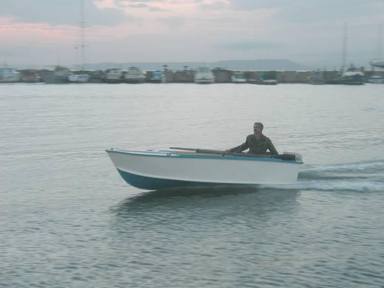 """Испытания лодки под """"Ветерком-8М""""."""